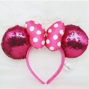 NWT-Disney, Pink Bow Sequins, Minnie Mouse Ears